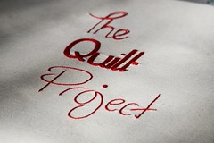The Quilt Project (kootoyoo) Tags: embroidery text handlettering redwork embroideredtext thequiltproject