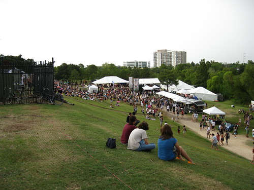 Looking down the hill at Summerfest