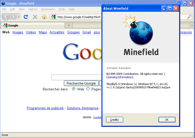 Firefox 3.6 Alpha 2 - 1