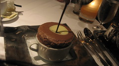 Gary Danko in San Francisco - Chocolate Souffle with two chocolate sauces
