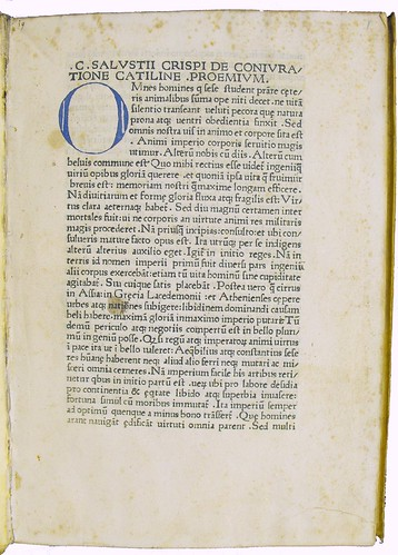 Coloured initial from Sallustius: Opera