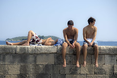 Three Boys_Croatia_007A (jackie weisberg) Tags: sea people hot guy water horizontal kids island harbor democracy kid europe teenagers teens eu lifestyle croatia sunny bluesky guys teen photograph teenager daytime blueskies youngman easterneurope adriaticsea dalmatia centraleurope teenageboys harbortown youngmen teenageboy orebic peljesacpeninsula adriaticcoast southeasterneurope lifestylepeople jackieweisberg homeofmarcopolo