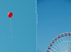 blue&red (ShanLuPhoto) Tags: park blue red sky holiday chicago america fun balloon navypier valentinesday  loolooimage