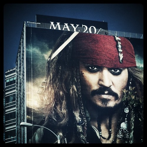 The Pirates of the Caribbean On Stranger Tides ad advertisement sign billboard drollgirl