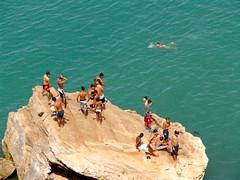 Rabat Morocco (npangere) Tags: boys rock swimming swim children morocco moroccan rabat