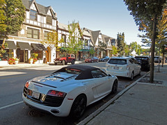 Audi R8 V10 Spyder (Hertj94 Photography) Tags: white public car illinois nikon downtown hunting convertible spyder september exotic german spotted audi awd spotting v10 r8 winnetka 2013 s8200