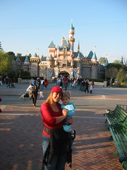 Mommy and Sophie with the castle