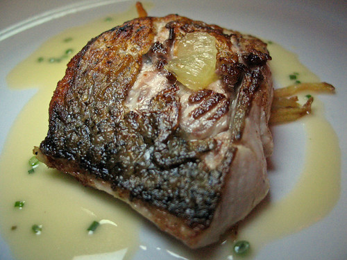 Oven-Roasted Canadian Whitefish with Preserved Lemon and Chive-Herb Sauce