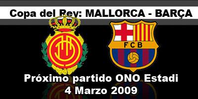 partido Copa del Rey Mallorca Barcelona