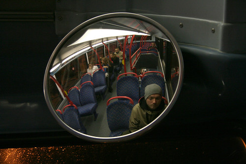 Self Portrait in Birmingham bus.