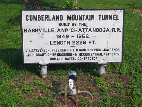 Cumberland Mtn Tunnel Marker