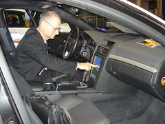 Touch screen in Prototype Pontiac G8 for LAPD
