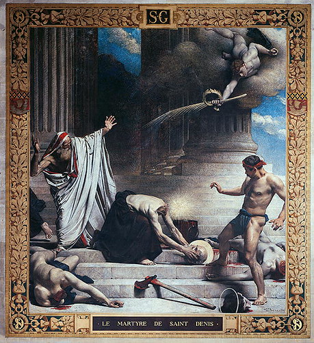 Léon Bonnat (French, 1833-1922) The Martyrdom of Saint Denis (c. 1880) Fresco. Parisian Parthenon, France.