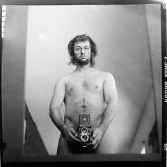 (Benoit.P) Tags: camera portrait canada man 6x6 film self nude montral autoportrait mtl quebec analogue troisrivieres mauricie homme nue yashica635 benoitp