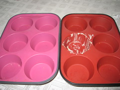 Empty muffin tins