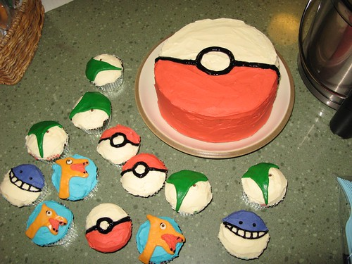 Pokeball Birthday Cake Round Tin