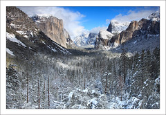 Snowy Tunnel View (Oscar Vasquez Photography) Tags: snow church halfdome yosemitenationalpark elcapitan canon24105l yosemitewinter canon5dmarkii