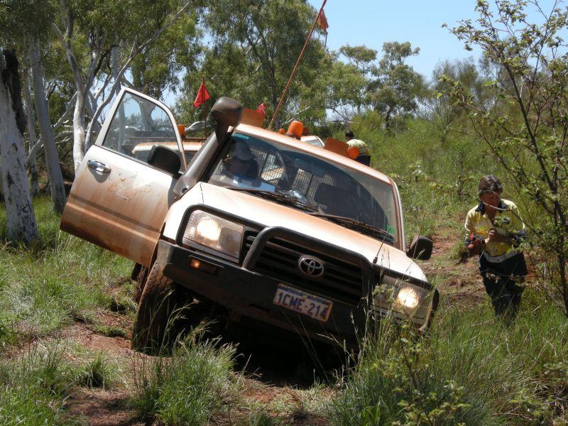 bogged car