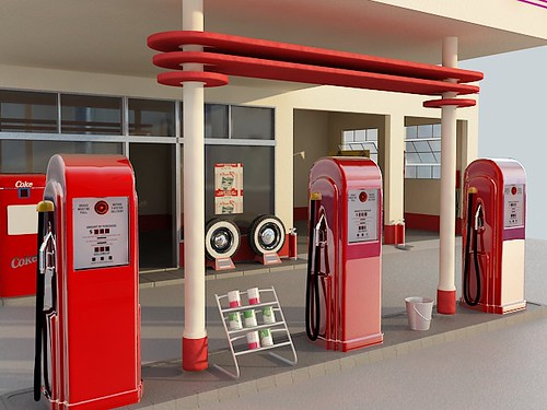 50´s Gas Station 3d (project)