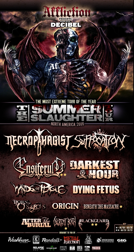 Summer Slaughter 2020.The Summer Slaughter Tour Official Lineup Revealed