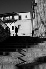 vvv (cmedrang) Tags: shadow bw españa byn silhouette stairs spain sombra silueta crisis escaleras cuenca cmedrang