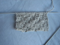 Knitting project #8 - The checkered scarf