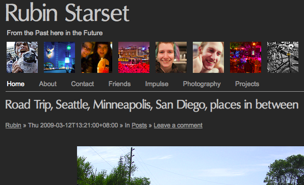 Rubin Starset » From the Past here in the Future