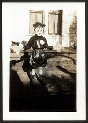 Mickey Mouse Kid (Brechtbug) Tags: halloween wearing vintage mouse costume dad disney mickey circa 1939 1937 my