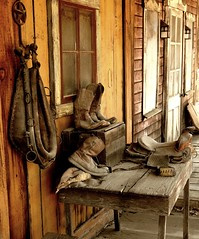 Rode hard and put up wet (Texasbubba) Tags: old morning west photoshop nikon day texas boots decay d200 yesterday amercian cs4 galvestoncounty oldandbeautiful texasbubba