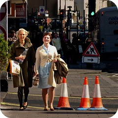 Ladies walking (094|365) (MuffinMummy) Tags: road street family ladies two trafficlights bus sign walking cafe dress pavement walk candid saturday funday sidewalk mocha shops arrow 365 latte signal footpath picnik safetycone day94 grandnational tomtom witcheshat project365 3661 project3661 365x2009 442009 khallouktaylor susiedavesplace damienvanessa