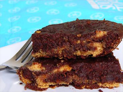 Saucepan peanut marble brownies