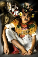 The Abangan's Barong Performer series - Anak Barong #4 (Mio Cade) Tags: poverty travel boy shirtless portrait cute art boys beautiful face festival kids youth children indonesia religious photography monkey dance costume kid interestingness interesting scary concert community funny colorful asia king village child mask god good candid character traditional performance culture adorable makeup evil prince dancer disguise acting warrior farmer perform colourful wisdom custom performers performer alp dragan soe act cultural baron cade ubud barong balinese catchlight facescape peoplescape photographyrocks fasinating flickraward photoscape earthasia cadeprocessing