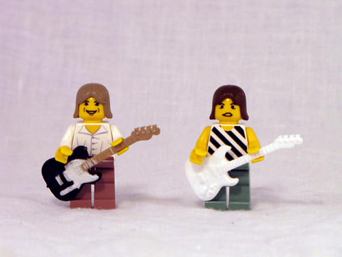 Custom minifig guitars