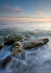 remnants in the surf (Tony Gill) Tags: sea beach evening coast rocks surf tide shore dorset jurassic lulworth stoswalds
