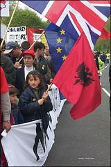 Pro-Kosovo demo at Trafalgar Square, 25 April 1999 (UK Albanians Network) Tags: london kosova kosovo albaniancommunity