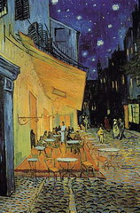 01 Cafe Terrace, Arles at Night by Van Gogh