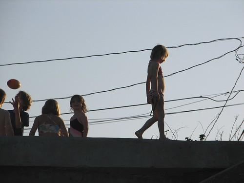 kids on the sea wall