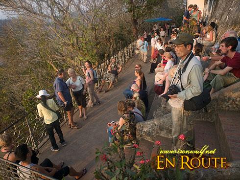 Phu Si Hills Tourist Crowd