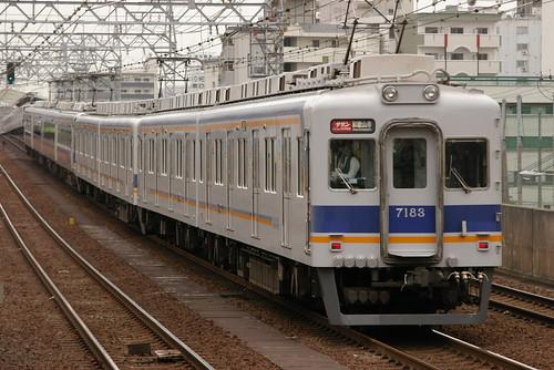 Nankai7100series(first 2 cars) in Imamiyaebisu,Osaka,Osaka,Japan 2009/5/4