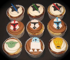 Star Wars cupcakes (two parts sugar) Tags: birthday boy cakes cake cupcakes starwars yoda cupcake r2d2 stormtrooper c3p0 anakin missionviejo orangecounty lakeforest clonewars milleniumfalcon foothillranch battledroid laderaranch ranchosantamargarita animatedseries lasflores cotodecaza spiderdroid genrealgrievous
