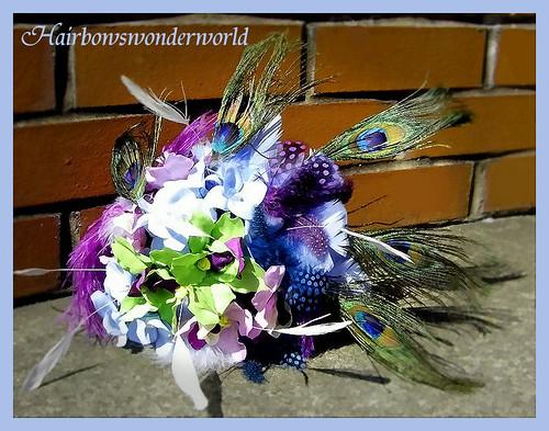peacock bridal bouquet 1