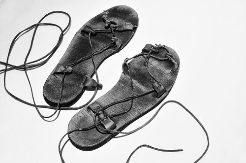 bw texture leather shoes handmade sandals jesus footwear laces