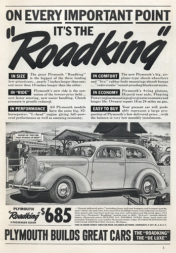 Plymouth Roadking Ad (1938)