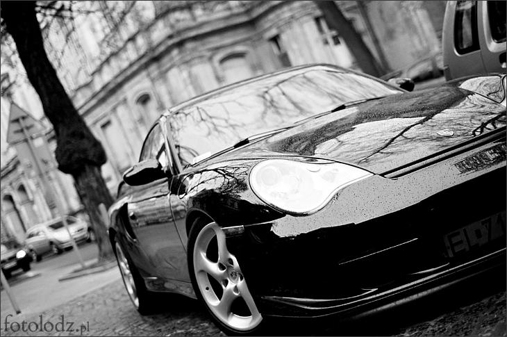 Porsche na Moniuszki w Łodzi
