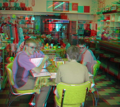Lunch at Soda Fountain (3D)