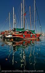 Gulets in Bodrum Marina (by voyageAnatolia.blogspot .com)