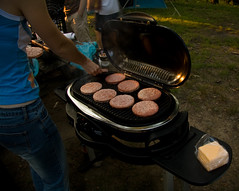 Cooking Hamburgers on the Grill