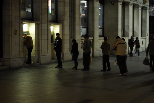 dublin social patterns - ATM queue