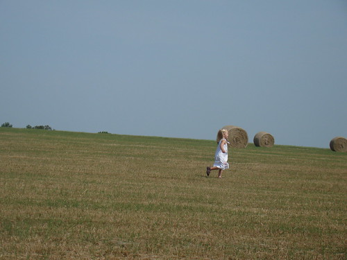 Children in a field