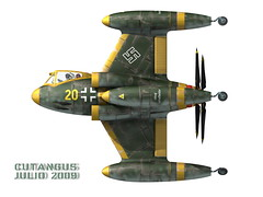 PROPELLER-DRIVEN V.T.O.L. COMBAT AIRCRAFT (cutangus) Tags: art vertical computer 3d cg fighter render aircraft attack german flugzeug textured 1947 vtol caza interceptor deutsche luftwaffe vertikal aeronave aeronef